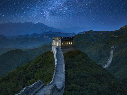 Night at China Great Wall